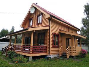 Покраска деревянных домов